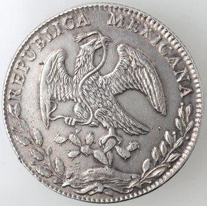 obverse: Messico. Prima Repubblica. 8 Reales 1884. Ag.