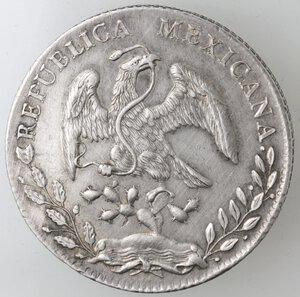 obverse: Messico. Prima Repubblica. 8 Reales 1887. Ag.