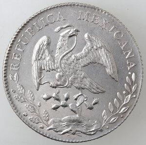 obverse: Messico. Prima Repubblica. 8 Reales 1891. Ag.