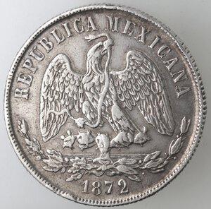 obverse: Messico. Prima Repubblica. Peso 1872. Ag.