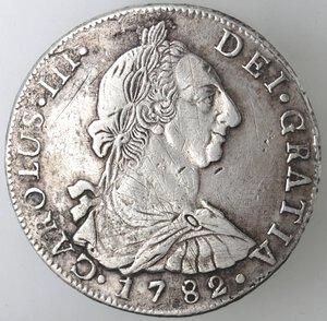 obverse: Bolivia. Carlo III. 1759-1788. 8 Reales 1782 PR. Ag.