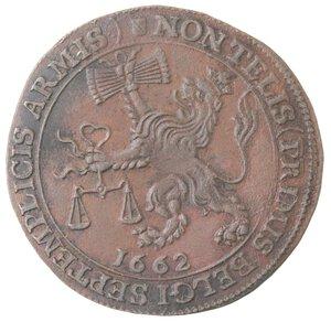 obverse: Olanda. Carlo II. Token 1662. Ae.