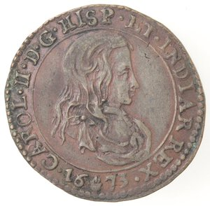obverse: Olanda. Carlo II. Token 1673. Ae.