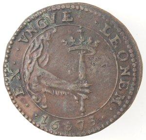 reverse: Olanda. Carlo II. Token 1673. Ae.