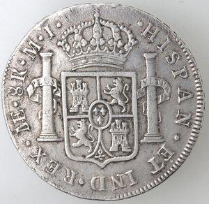 reverse: Peru . Lima. MJ. Carlo III. 1759-1788. 8 Reales 1777. Ag.