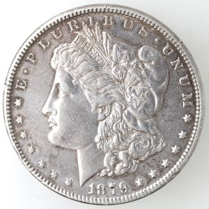obverse: USA. Dollaro Morgan 1879 S. Ag.