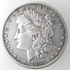obverse: USA. Dollaro Morgan 1880 S. Ag.