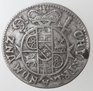 obverse: Germania. Treviri. Karl Joseph Von Lorraine. Elettore di Treviri. Triplo Albus 1713. Ag.