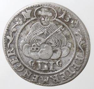 reverse: Germania. Treviri. Karl Joseph Von Lorraine. Elettore di Treviri. Triplo Albus 1713. Ag.
