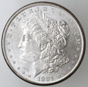 obverse: USA. Dollaro Morgan 1881 S. Ag.