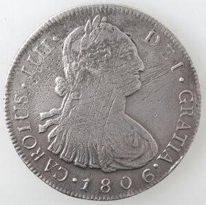 obverse: Guatemala. Carlo IV. 1788-1808. 8 reales 1806. Ag.