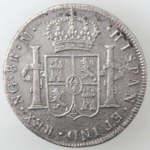 reverse: Guatemala. Carlo IV. 1788-1808. 8 reales 1806. Ag.