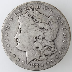 obverse: USA. Dollaro Morgan 1884 S. Ag.