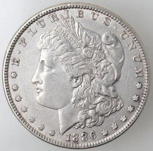 obverse: USA. Dollaro Morgan 1886 Philadelphia. Ag.