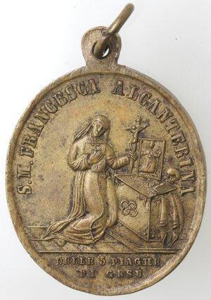 reverse: Medaglia religiosa. XIX sec. San Gennaro V. e Martire. Br.