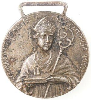 obverse: Medaglia religiosa. 1930. San Gennaro V. e Martire. Br.