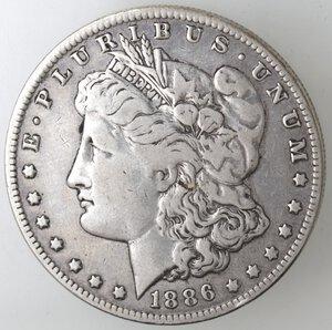 obverse: USA. Dollaro Morgan 1886 O. Ag.