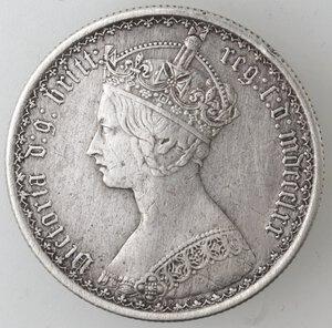 obverse: Gran Bretagna. Vittoria. 1837-1901. Fiorino 1852. Ag.