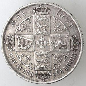 reverse: Gran Bretagna. Vittoria. 1837-1901. Fiorino 1852. Ag.