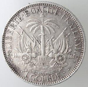 reverse: Haiti. 100 Gourde 1881. Ag.