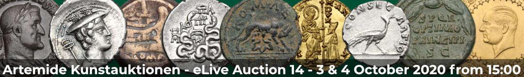 Banner Artemide eLive Auktion 14