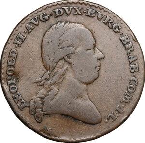 obverse: Austria.  Leopold II (1790-1792).. AE Medal, 1791