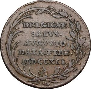 reverse: Austria.  Leopold II (1790-1792).. AE Medal, 1791