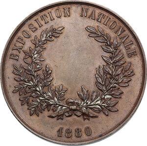 reverse: Belgium.  Leopold II (1835-1909). AE Medal, 1880