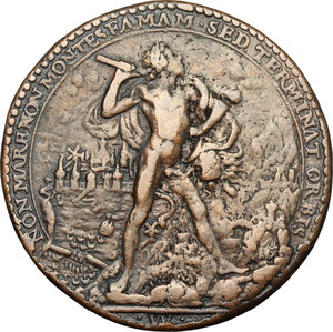 reverse: France.  Louis XIII (1610-1643).. AE Medal, 1629