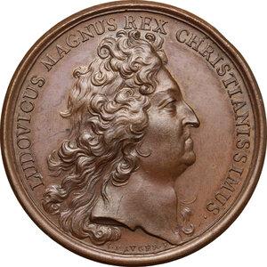 obverse: France.  Louis XIV (1643-1715). AE Medal, 1694