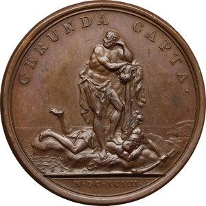 reverse: France.  Louis XIV (1643-1715). AE Medal, 1694