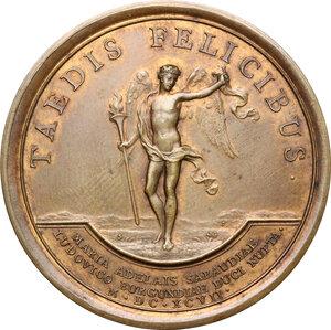 reverse: France.  Louis XIV (1643-1715). AE Medal, 1697
