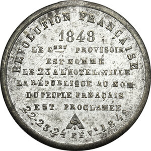 obverse: France. WM medal 1848