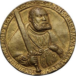 obverse: Germany.  Johann Friedrich d. Großmütige (1532-1547).. AE Cast Medal, gilded, 1535