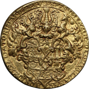 reverse: Germany.  Johann Friedrich d. Großmütige (1532-1547).. AE Cast Medal, gilded, 1535