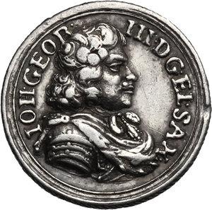 obverse: Germany.  Johann Georg III (1680-1691).. AR Medal, Saxony