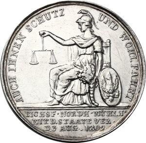 reverse: Germany.  Friedrich Wilhelm III (1797-1840).. AR Medal, 1803
