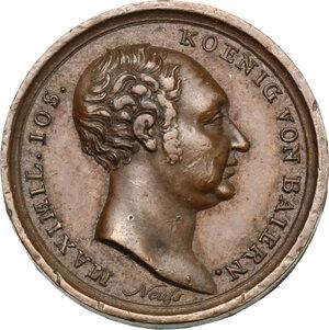 obverse: Germany.  Maximilian I. Joseph (1799-1825).. AE Medal, 1824