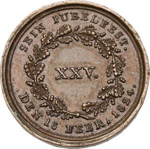 reverse: Germany.  Maximilian I. Joseph (1799-1825).. AE Medal, 1824
