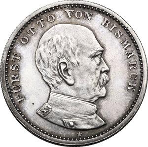 obverse: Germany.  Otto von Bismarck (1815-1898).. AR Medal, 1890