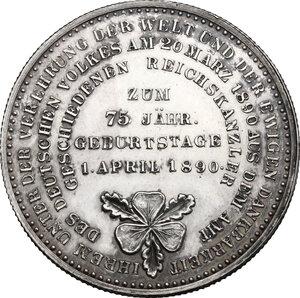 reverse: Germany.  Otto von Bismarck (1815-1898).. AR Medal, 1890