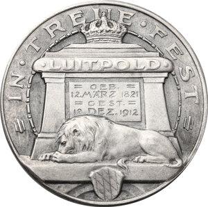 reverse: Germany.  Luitpold, Prince regent (1886-1912).. AR Medal, Nuremberg mint, 1912