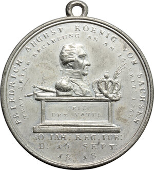 obverse: Germany.  Friedrich August I (1806-1827).. WM Medal, Saxony, 1818
