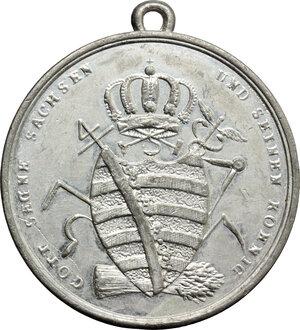 reverse: Germany.  Friedrich August I (1806-1827).. WM Medal, Saxony, 1818