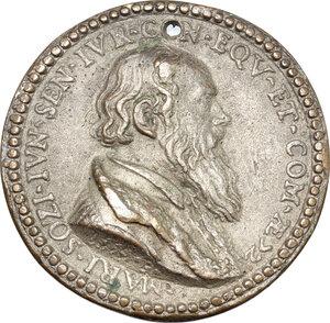 reverse: Italy.. Tin Cast Medal, 17th century