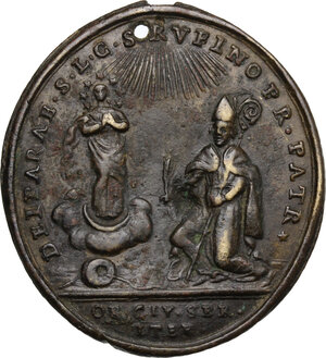 reverse: Italy.. AE Medal, Assisi mint, 1797