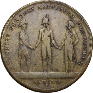 reverse: Russia. AE Jeton, 1813