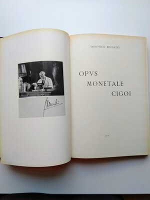 reverse: Lodovico Brunetti. Opus Monetale Cigoi. 158 pages (with additional 14 tables) Bologna 1966