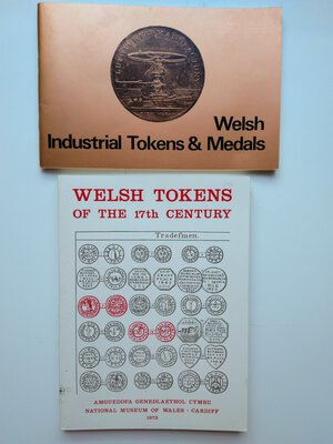 obverse: Lot of 2: National Museum of Wales. Welsh Tokens of the 17th century. 144 pages with photos. Cardiff 1973.  National Museum of Wales. Welsh Industrial Tokens and Medals. 56 pages with photos. Cardiff 1973