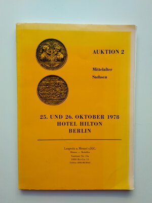 obverse: Auction Catalogue Saxony of the Middle Ages. 111 pages with photos. Berlin 1978